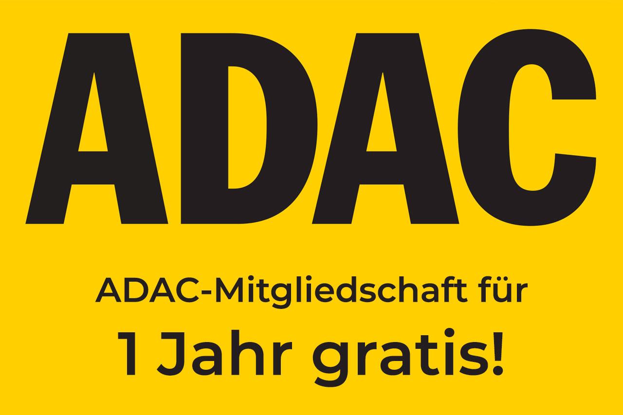 1- Jahr Gratis ADAC-Mitgliedschaft
